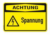 Warnschild Achtung - Spannung