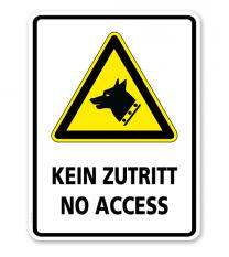 Warnschild Kein Zutritt - no access