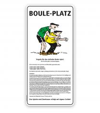 Schild Bouleplatz - mit Regeln - SP
