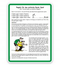 Schild Bouleplatz - mit Regeln 2 - SP