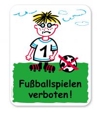 Schild Fußballspielen verboten - SP