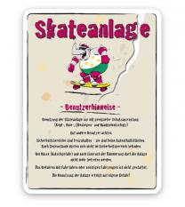 Spielplatzschild Skateanlage Benutzerhinweise - SP