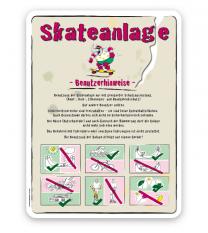 Spielplatzschild Skateanlage Benutzerhinweise 2 - SP