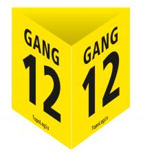Deckenhänger gelb – Prisma-Stecksystem (nur für den Innenbereich)