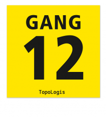 Gangschilder gelb, ab 10 x 10 cm (nur für den Innenbereich)