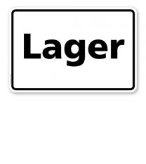 Textschild Lager - TX