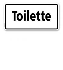 Textschild Toilette - TX
