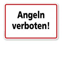 Textschild Angeln verboten - TX