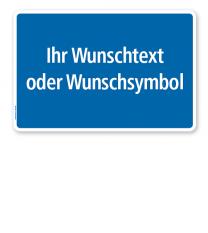 Textschild individuell - mit Ihrem Wunschtext - farbige Hintergründe - TX