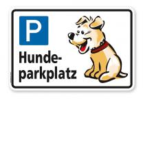 Hinweisschild Hundeparkplatz - TX