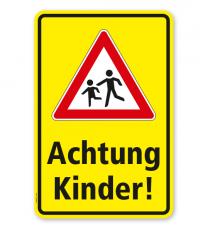 Kombischild / Kinderschild Achtung Kinder