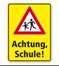 Kombischild / Kinderschild Achtung Schule