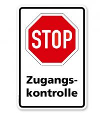 Kombischild Stop Zugangskontrolle