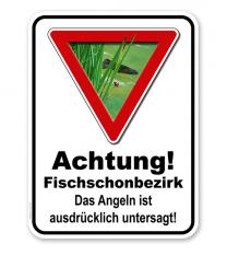 Kombischild Vorsicht Fischschonbezirk - 2