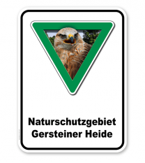 Kombischild Naturschutzgebiet mit Gebietsnamen - 2