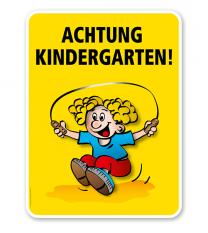Kinderschild Achtung Kindergarten - VSS
