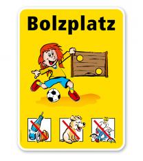 Spielplatzschild Bolzplatzschild - VSS