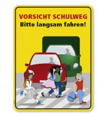 Kinderschild Vorsicht Schulweg - VSS-K-31