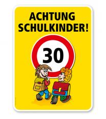 Kinderschild Achtung Schulkinder 30er Zone - VSS