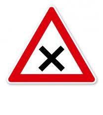 Kreuzung oder Einmündung - Verkehrsschild VZ 102