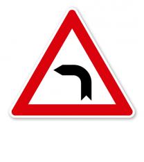 Kurve links - Verkehrsschild VZ 103-10