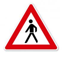 Fußgänger, Aufstellung rechts - Verkehrsschild VZ 133-10