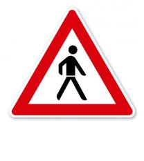 Fußgänger, Aufstellung links - Verkehrsschild VZ 133-20