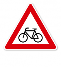 Radverkehr, Aufstellung rechts - Verkehrsschild VZ 138-10