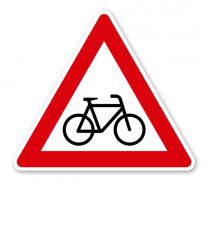 Radverkehr, Aufstellung links - Verkehrsschild VZ 138-20