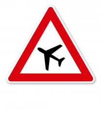 Flugbetrieb, Aufstellung rechts - Verkehrsschild VZ 145-11
