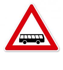 Kraftomnibusse, Aufstellung rechts - Verkehrsschild VZ 145-10