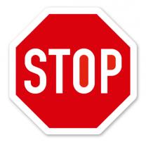 Halt! Vorfahrt gewähren - STOP Schild - Verkehrsschild VZ 206