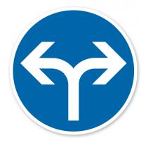 Vorgeschriebene Fahrtrichtung links oder rechts - Verkehrsschild VZ 214-30