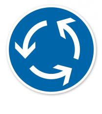Kreisverkehr - Verkehrszeichen VZ 215