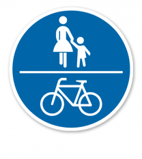 Gemeinsamer Geh- und Radweg - Verkehrsschild VZ 240