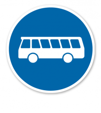 Bussonderfahrstreifen - Verkehrsschild VZ 245