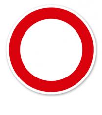Verbot für Fahrzeuge aller Art - Verkehrsschild VZ 250