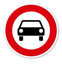 Verbot für Kraftwagen und sonstige mehrspurige Kraftfahrzeuge - Verkehrsschild VZ 251