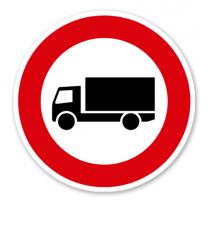 Verbot für Kraftfahrzeuge mit einer zulässigen Gesamtmasse über 3,5 t, einschließlich ihrer Anhänger und Zugmaschinen - Verkehrsschild VZ 253