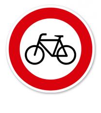 Verbot für Radverkehr - Verkehrsschild VZ 254