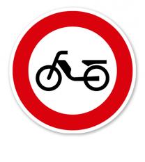 Verbot für Mofas - Verkehrsschild VZ 257-50
