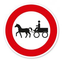 Verbot für Gespannfuhrwerke - Verkehrsschild VZ 257-52