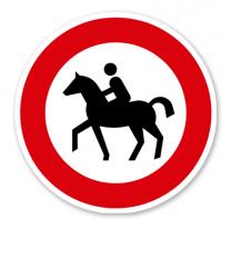 Verbot für Reiter - Verkehrsschild VZ 257-51