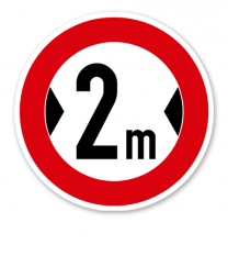 Verbot für Fahrzeuge über angegebene tatsächliche Breite - Verkehrsschild VZ 264