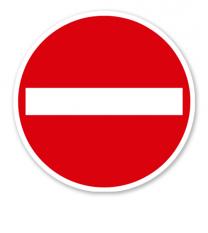 Verbot der Einfahrt - Verkehrsschild VZ 267