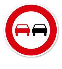 Überholverbot für Kraftfahrzeuge aller Art - Verkehrsschild VZ 276