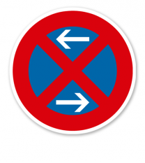 Absolutes Halteverbot Mitte, Rechtsaufstellung - Verkehrsschild VZ 283-30