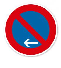 Eingeschränktes Halteverbot Ende, Linksaufstellung - Verkehrsschild 286-11