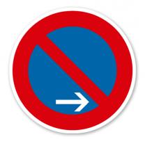 Eingeschränktes Halteverbot Ende, Rechtsaufstellung - Verkehrsschild VZ 286-20