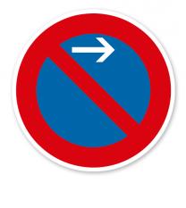 Eingeschränktes Halteverbot Anfang, Linksaufstellung - Verkehrsschild VZ 286-21